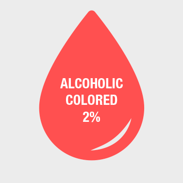 alcoholic colored
