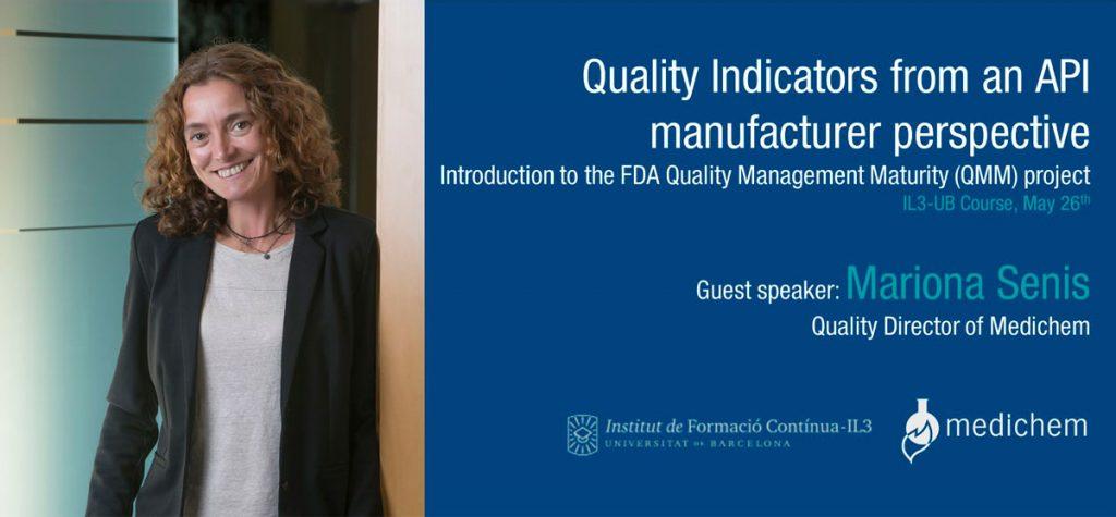 Gets speaker - Quality Director of Medichem